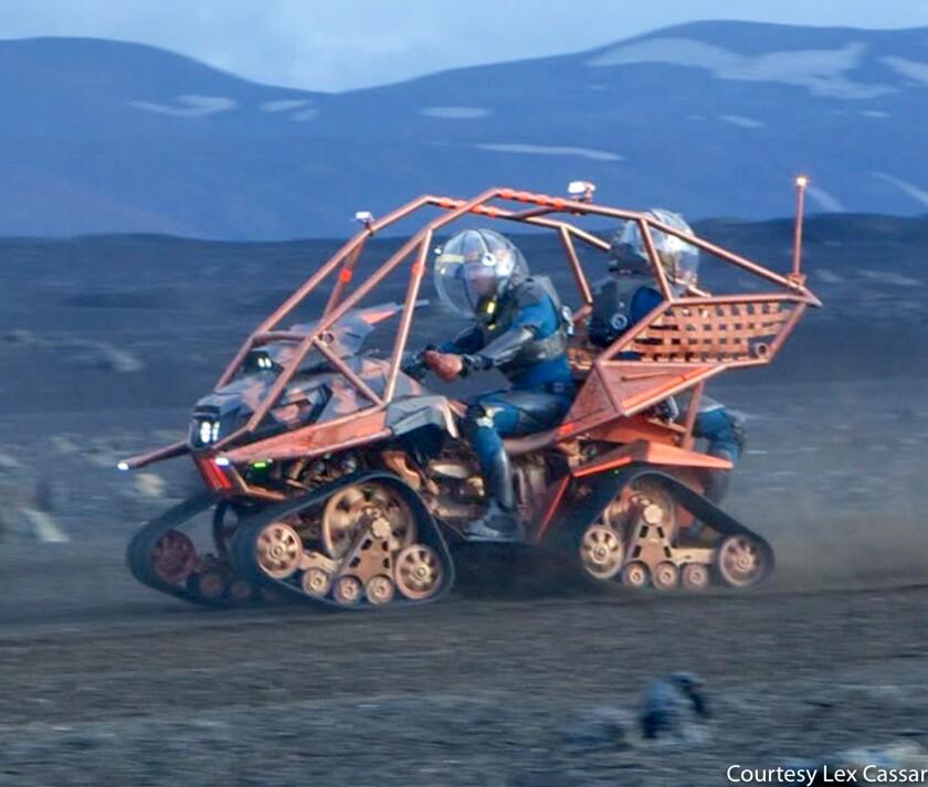 """Lex Cassar helped design this treaded ATV from """"Prometheus"""""""