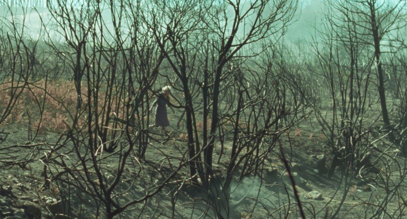 "Benedicta Sánchez in the movie ""Fire Will Come."""
