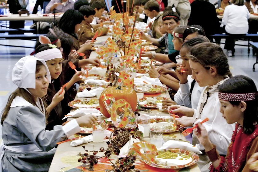 Photo Gallery: La Canada Elementary Thanksgiving feast