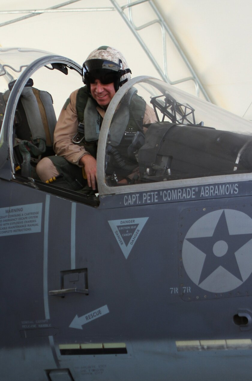 Lt. Col. Chris Raible, commanding officer of VMA-211, landed the first Harrier AV-8B jump jet at Bastion after his Yuma-based squadron relocated there from Kandahar on July 1.