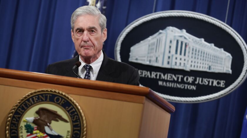 BESTPIX - Special Counsel Robert Mueller Makes A Statement On Russia Investigation
