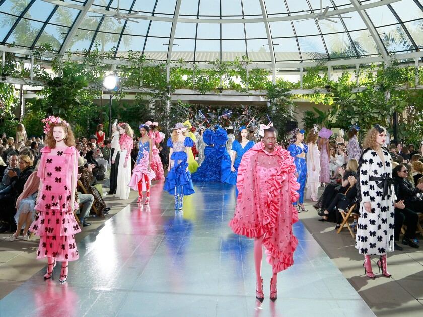 The finale of the fall and winter 2019 Rodarte runway show, presented in San Marino, Calif., on Tuesday.
