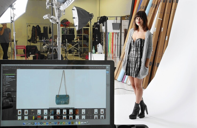 Nasty Gal founder and CEO Sophia Amoruso stands in the photo studio at company headquarters in downtown Los Angeles. The company, an e-commerce darling, recently announced plans to debut a shop in the Southland. Others are doing the same.