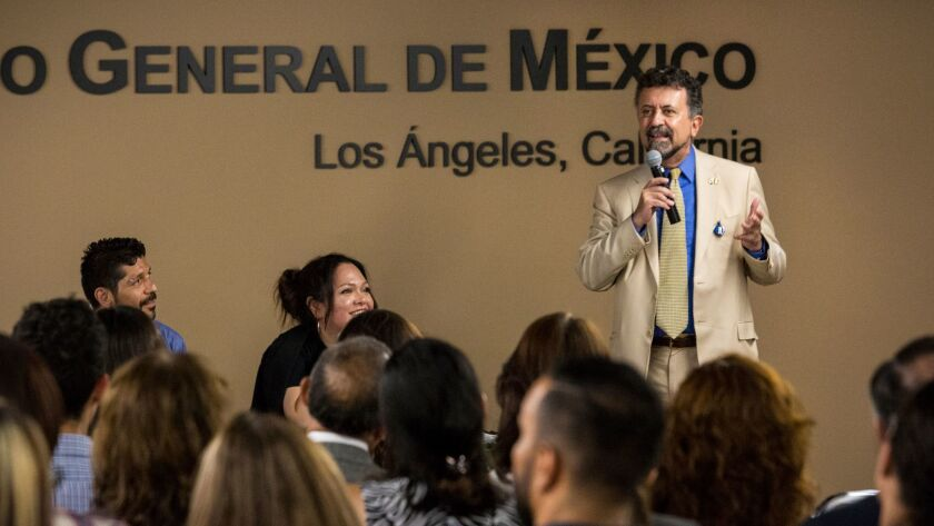 In a first, employees of Mexican Consulate in L A  get