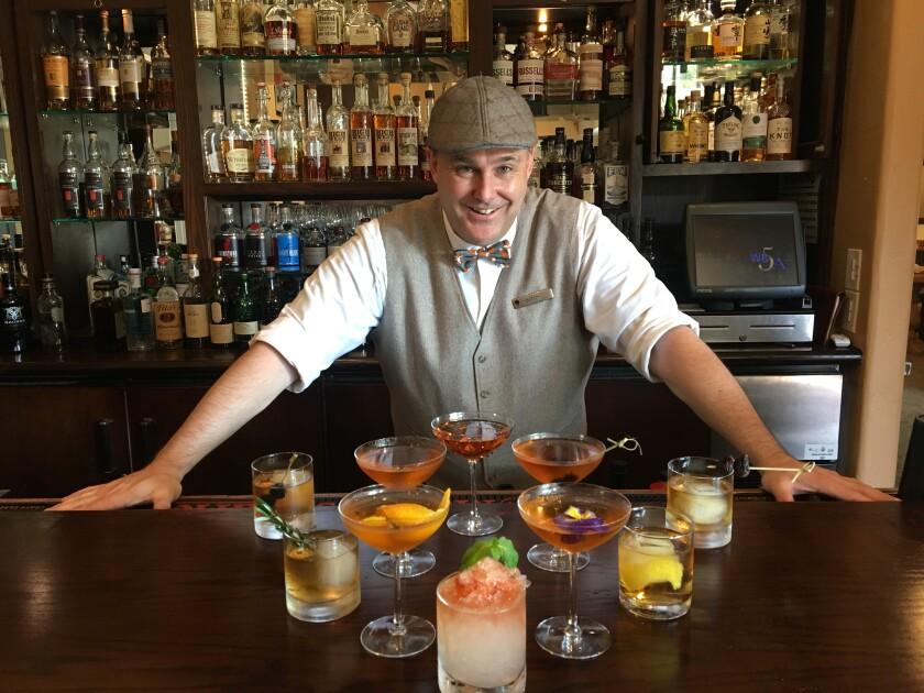 Dutch House, whiskey educator in The Huntsman Whiskey Bar at the Inn at Rancho Santa Fe.