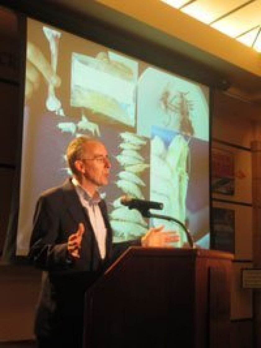 Scripps' marine biologist Doug Bartlett describes gigantism among crustaceans found nearly seven miles below the surface of the ocean.