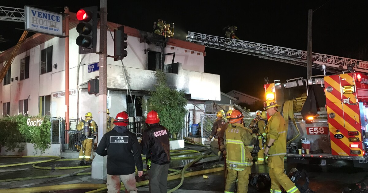 Fire at Mid-City hotel kills one, sends three to hospital