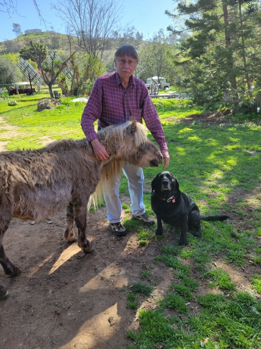 Steve Pachura, 78, got food, toys and treats for his pony, Missy, and dog Spike through a $4,000 Pet Smart grant.