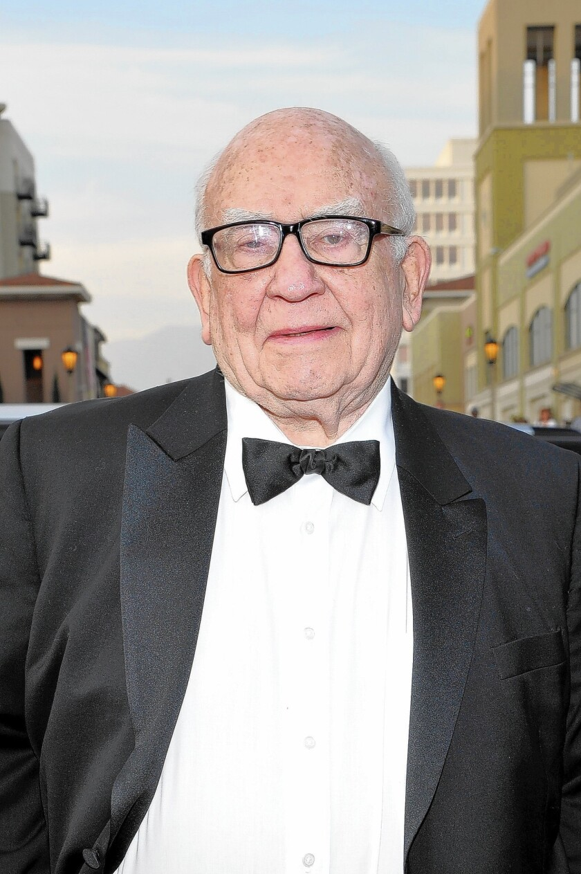 Actor Ed Asner attends the 45th NAACP Image Awards presented by TV One at Pasadena Civic Auditorium on Feb. 22 in Pasadena.