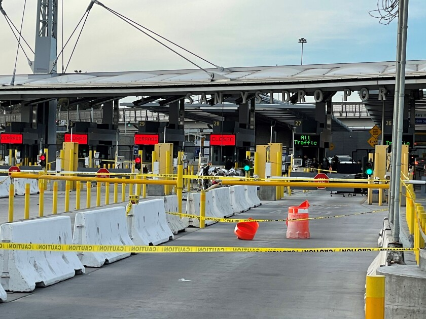 A driver died in a crash at the San Ysidro Port of Entry on Tuesday afternoon.