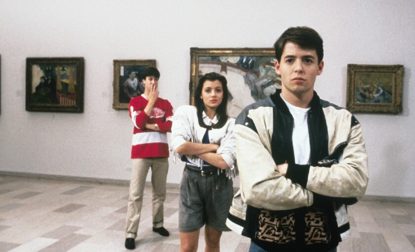 """Popular high school students such as Ferris Bueller, right, in """"Ferris Bueller's Day Off"""" are likely to earn more than their less-liked peers, according to a new report."""