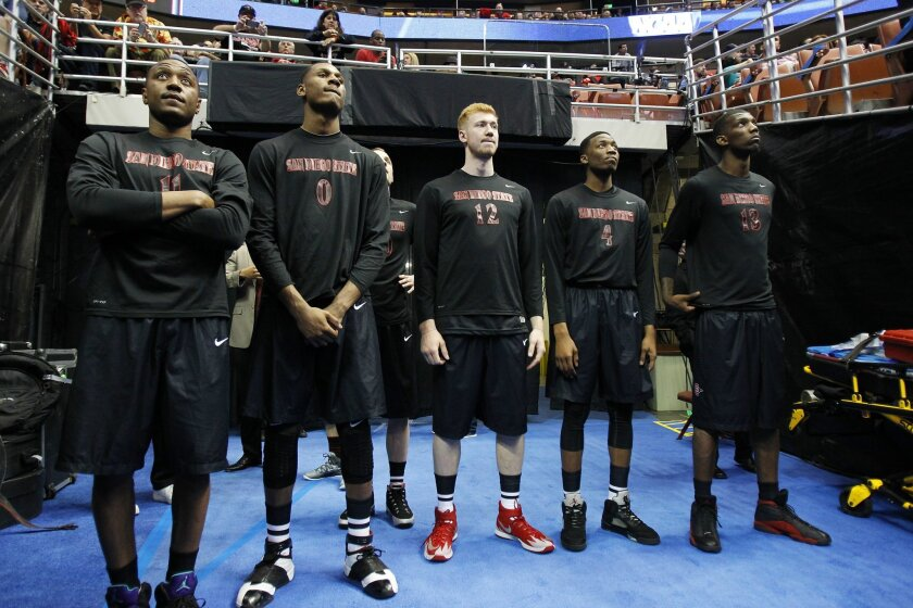 SDSU waits for the Wisconsin-Baylor game to end before the Aztecs took on Arizona.