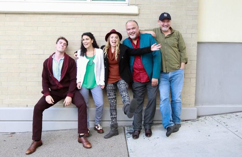 Tuyo Theatre co-founders (from left) Bernardo Mazón Daher, Patrice Amon, Crystal Mercado, Peter James Cirino and Daniel Jáquez.