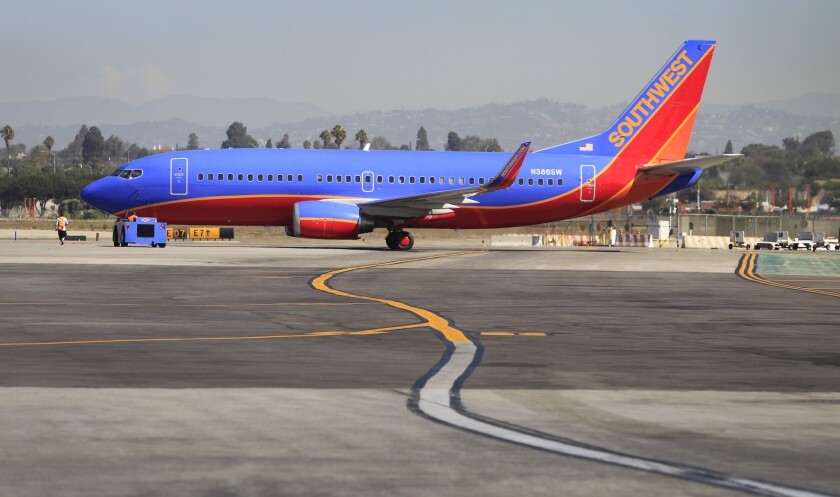 Southwest Airline plane at LAX