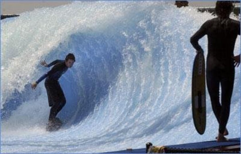 Surf S Up Indoors Artificial Waves Meet Real Ones At