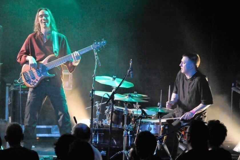 Bjorn Meyer and Kaspar Rast of Nik Bartsch's Ronin perform in London in March.