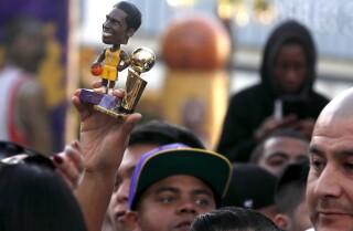 Kobe fans at 'Kobeland' street festival