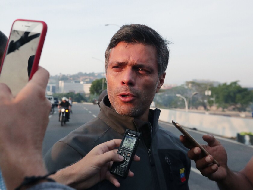 Venezuelan opposition leader Lopez freed from house arrest, Caracas, Venezuela - 30 Apr 2019