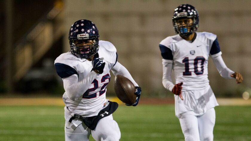 Horizon Christian running back DeAndre Daniels rushed for 177 yards in the Panthers' win over Tri-City Christian for the Division V title.