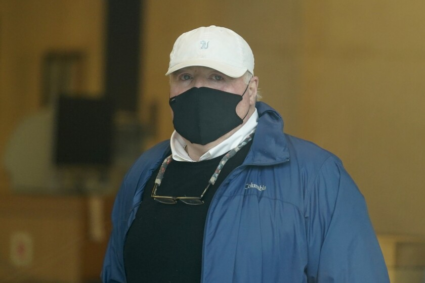 Michael Skakel arrives at a courthouse in Stamford, Conn., on Friday.