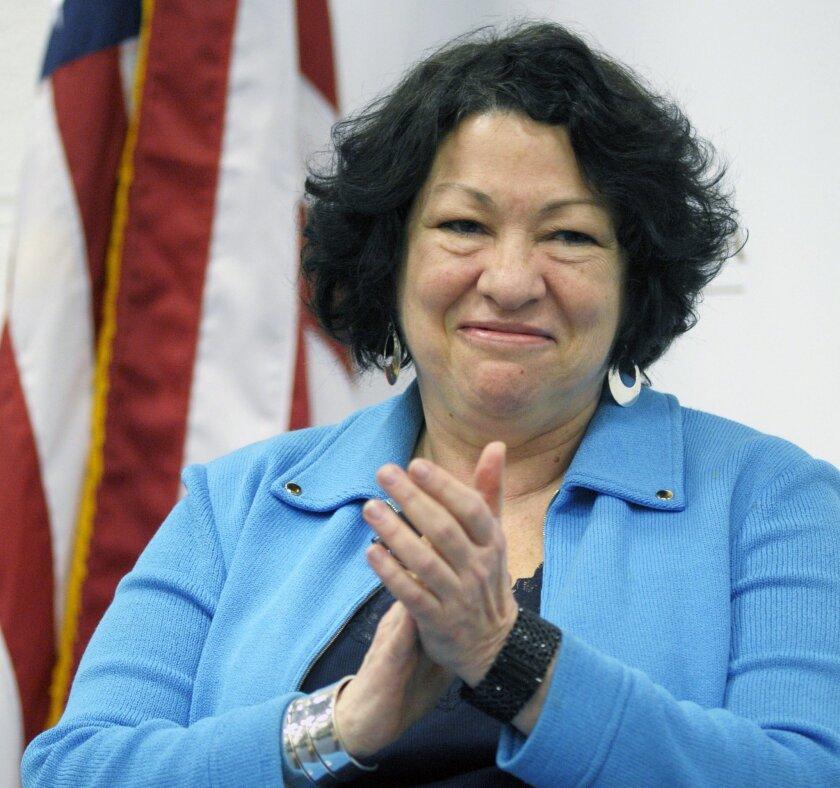 Supreme Court  Associate Justice Sonia Sotomayor FILE  (AP Photo/Cliff Owen, File)
