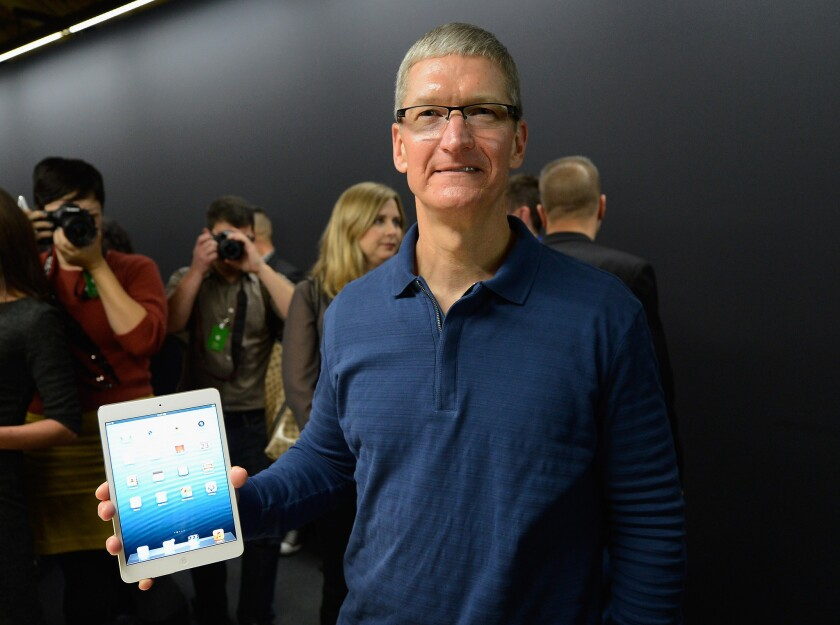 Apple CEO Tim Cook said he was surprised the company's share price fell so much after its most recent earnings report.