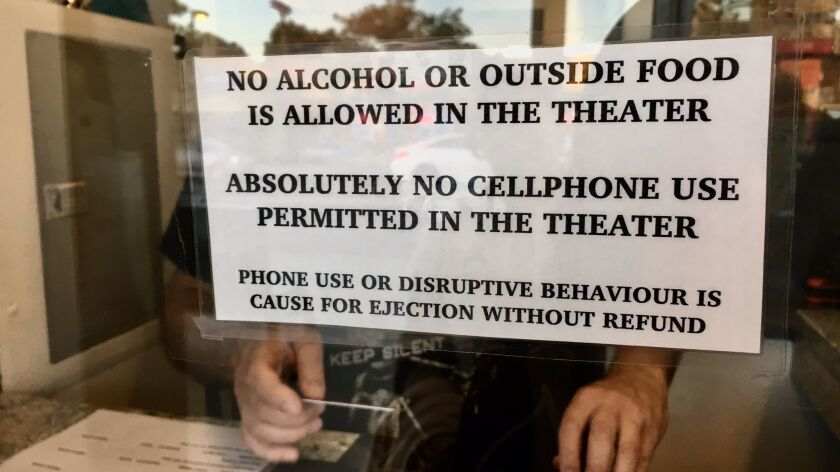 Shhhh! Talk or text during a movie at the New Beverly at your own peril.