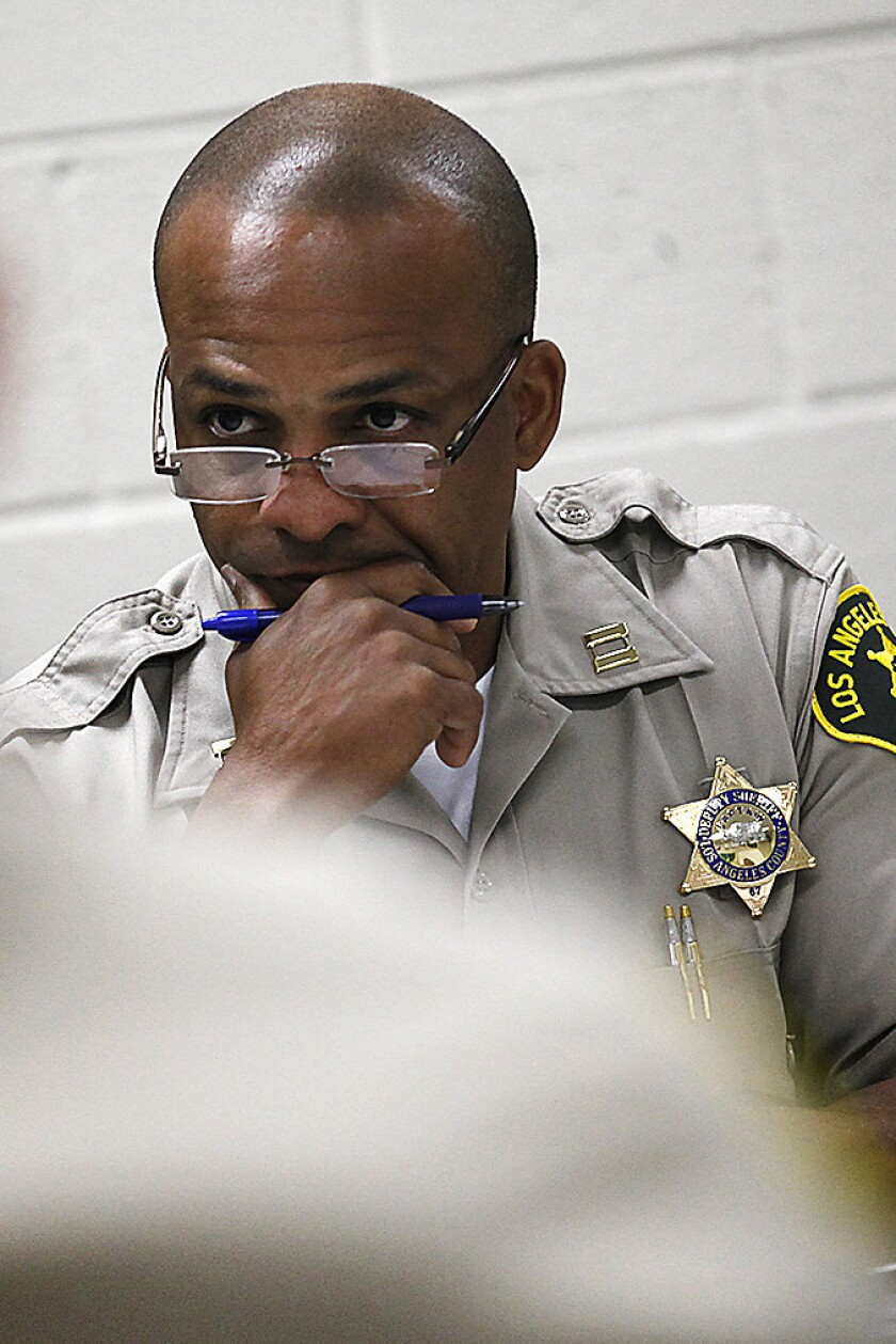 Los Angeles County Sheriff's Department Cmdr. Roosevelt Johnson was recently elevated from the Santa