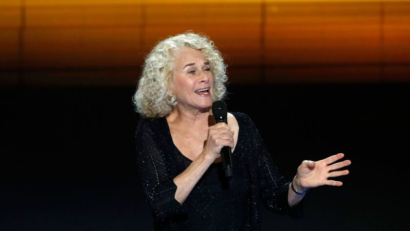 Carole King at the DNC 2016.