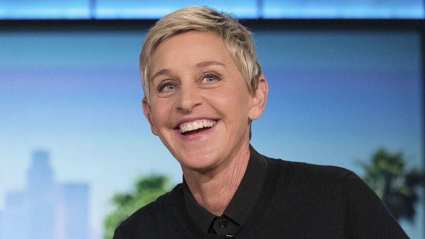 "Ellen Degeneres appears during a commercial break at a taping of ""The Ellen Show"" in Burbank."