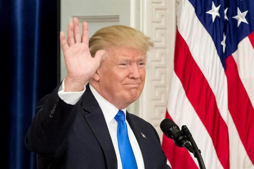 El presidente estadounidense Donald Trump. EFE/Archivo