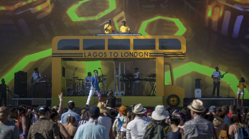 INDIO, CALIF. -- SATURDAY, APRIL 13, 2019: Mr Eazi on stage at the Coachella Valley Music and Arts F