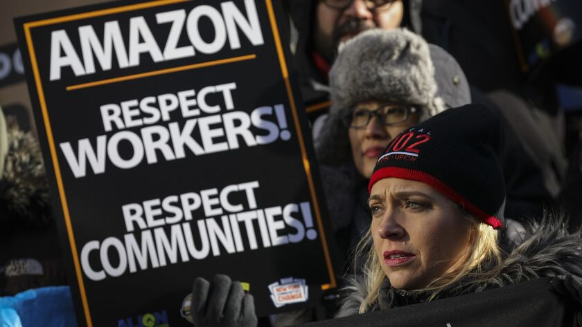 Anti-Amazon Protestors