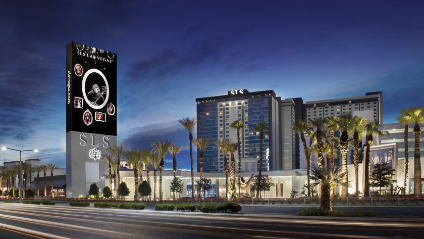 One of the three towers at the SLS Las Vegas will become a W hotel in 2016 after major renovations.