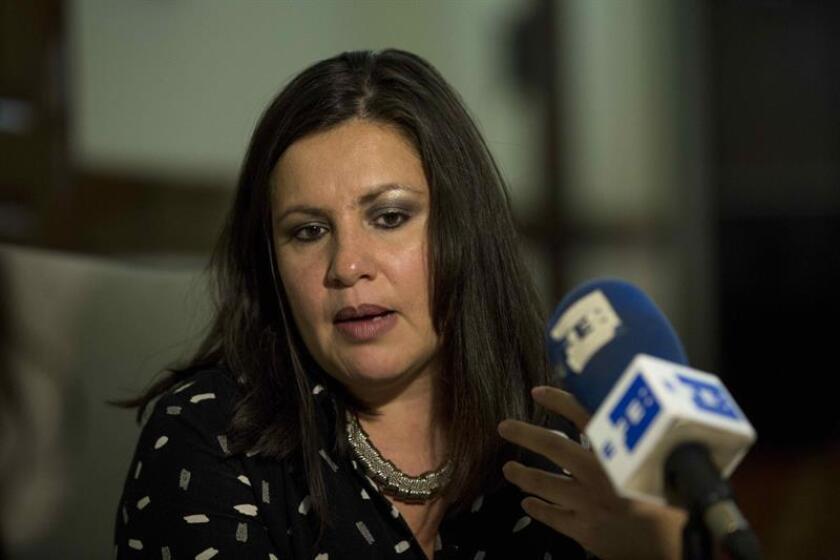 La directora para las Américas de Amnistía Internacional, Erika Guevara Rosas, habla durante una entrevista con Efe. EFE/Archivo