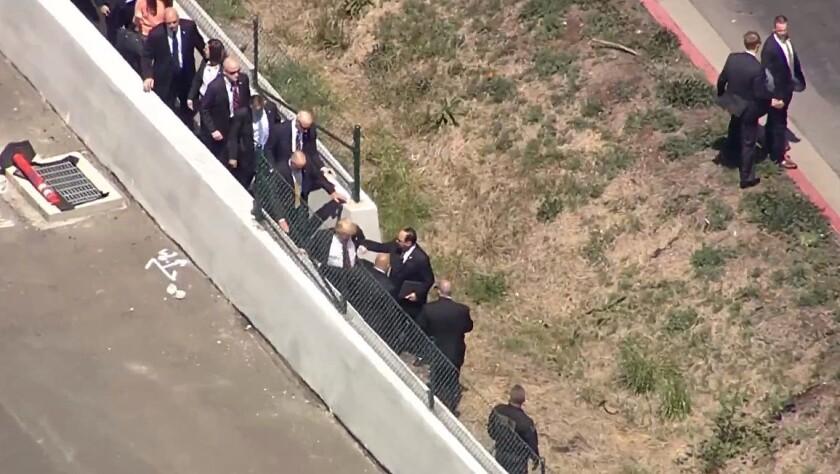 Trump arrives at California GOP convention