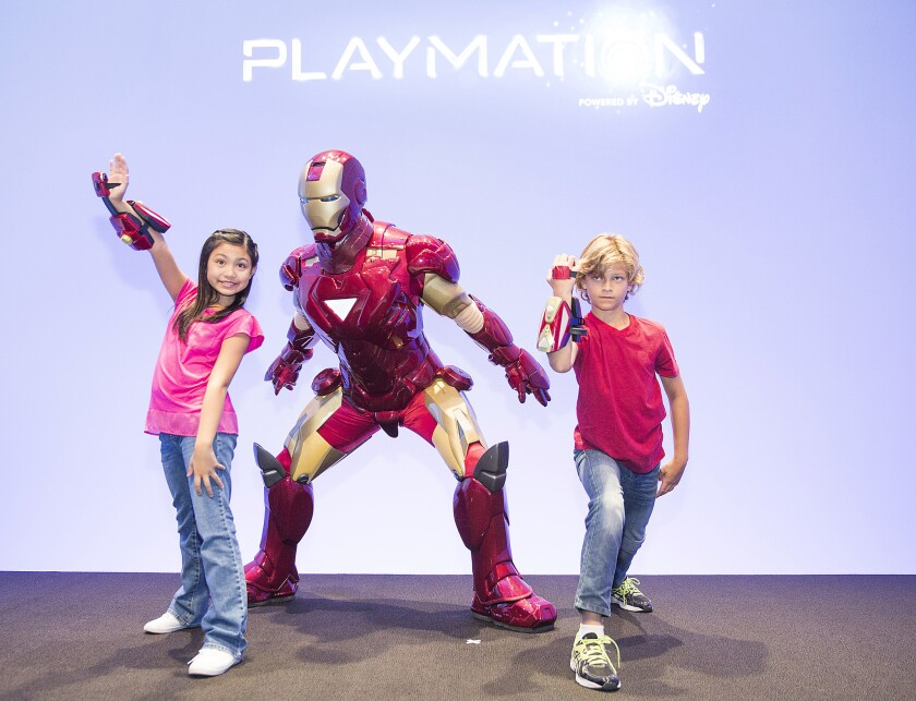 Disney's Playmation toy line is revealed at a June 2 event in Hollywood.