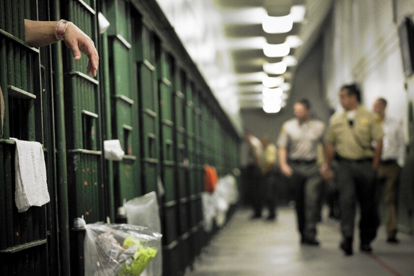 Inside the L.A. County Men's Central Jail.