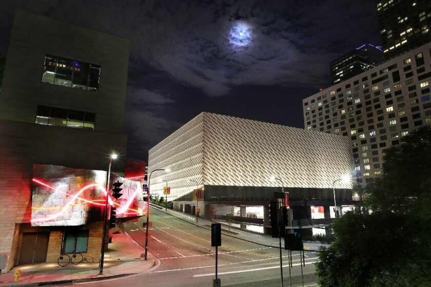 Twin dinner parties are scheduled this week to celebrate the opening of the Broad art museum.
