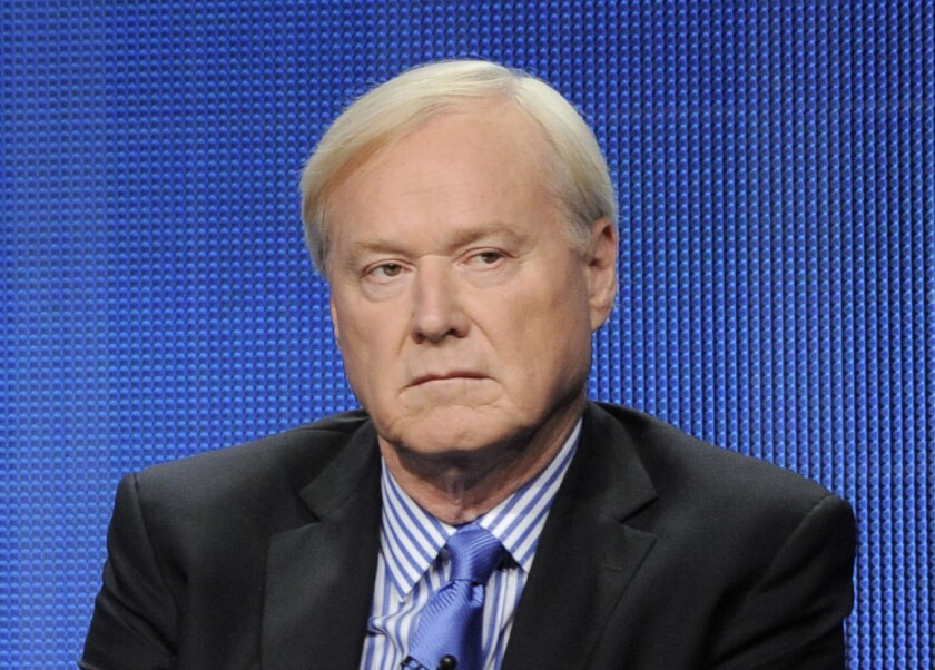 """FILE - This Aug. 2, 2011 file photo shows MSNBC host Chris Matthews takes part in a panel discussion at the NBC Universal summer press tour in Beverly Hills, Calif. Matthews announced his retirement on his political talk show """"Hardball with Chris Matthews"""" on Monday, March 2, 2020. (AP Photo/Chris Pizzello, File)"""