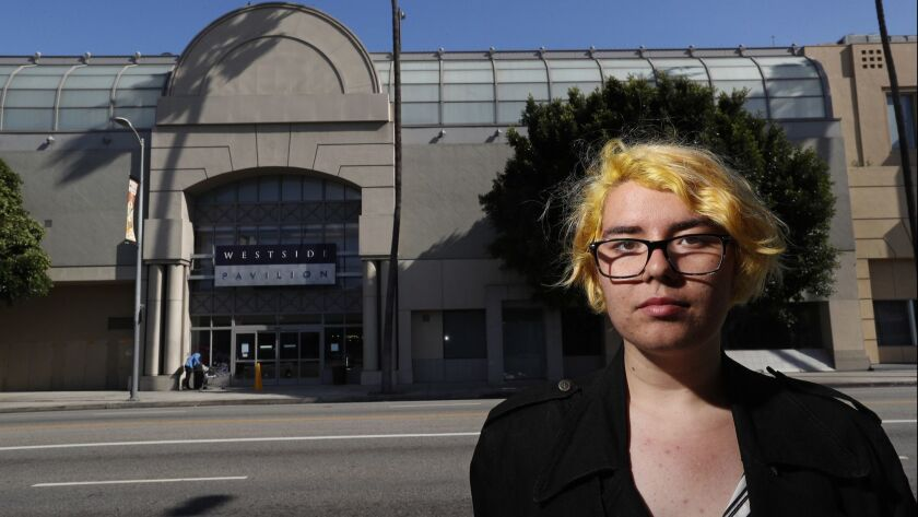 LOS ANGELES, CA-APRIL 19, 2018: Emma Halbert, 18, is photographed on Pico Blvd., across the street
