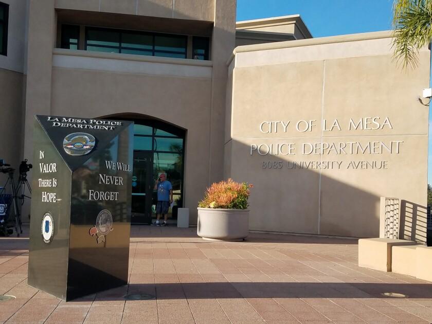 The La Mesa Police Department headquarters.
