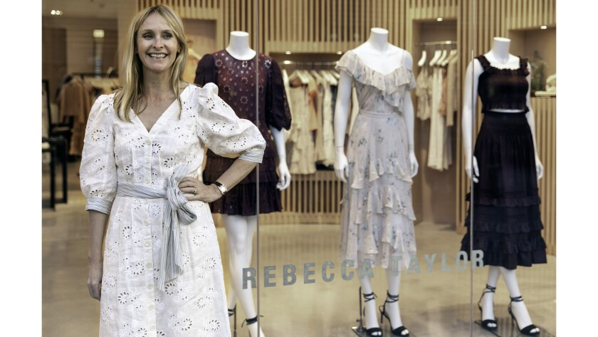 Women's clothing designer Rebecca Taylor attends a meet and greet on April 18 at the Rebecca Taylor