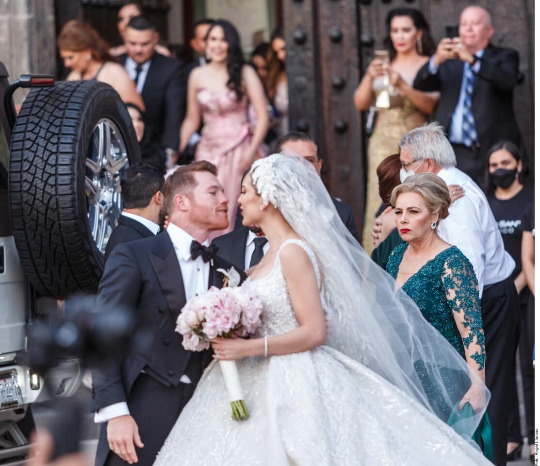 Escenas de la boda de Saúl Canelo Álvarez y Fernanda Gómez en Guadalajara el 23 de mayo de 2021.