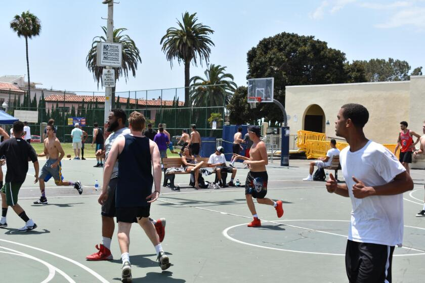 Pool play action from last year's inaugural Summer Classic at La Jolla Rec Center