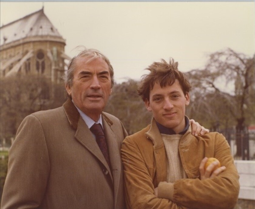Gregory Peck with Anthony Peck