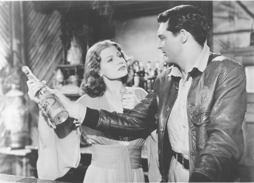 "Rita Hayworth and Cary Grant in ""Only Angels Have Wings."""