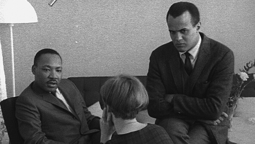 The Rev. Martin Luther King Jr. and Harry Belafonte
