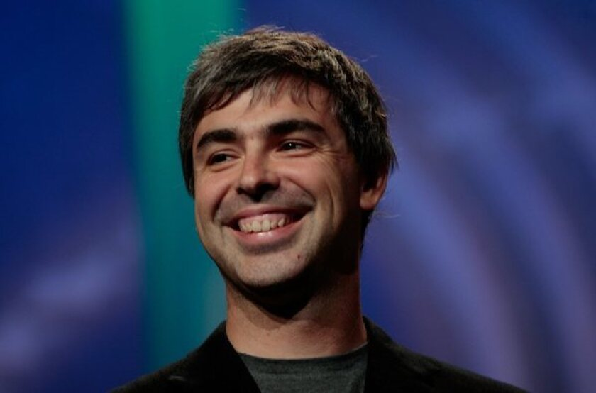 Google CEO Larry Page says his two vocal cords are unable to move properly, which makes it difficult for him to speak.