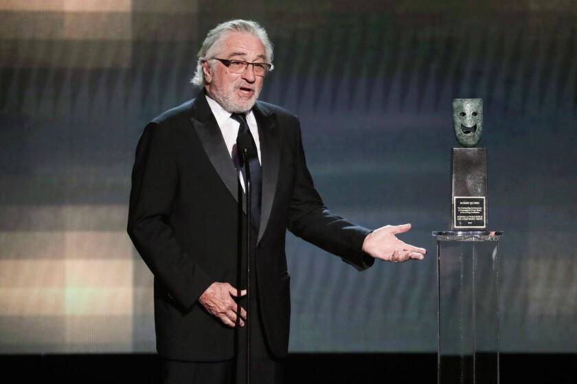 Robert De Niro receives his SAG Award